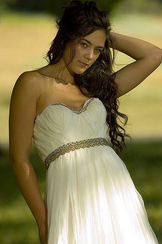 Young Bride in a summer wedding