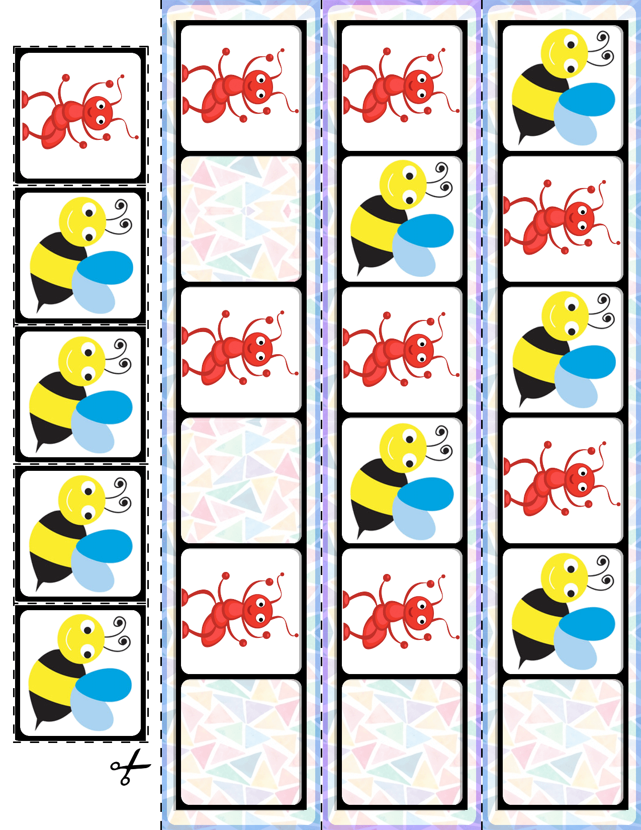 Spring Bugs Ab Pattern Cards
