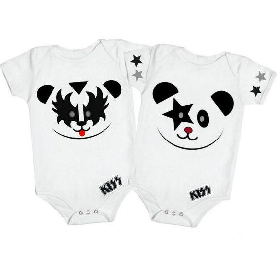 e13ddf61cbc5 Rock Band Baby Bodysuit Set Kiss Shirt by RollieePollieeStudio ...