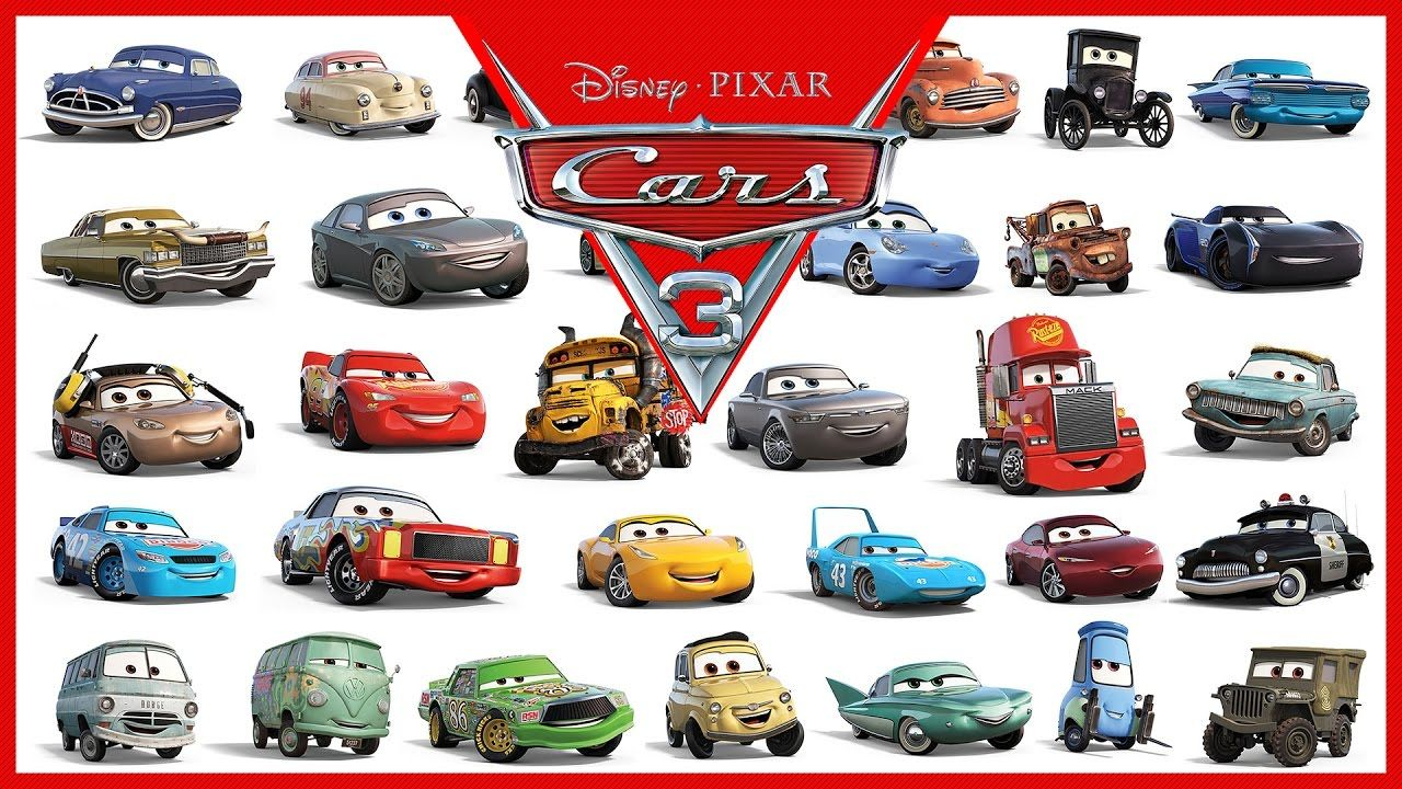 Disney Pixar Cars 3 All Characters Cars 2017 Cars 3 Characters