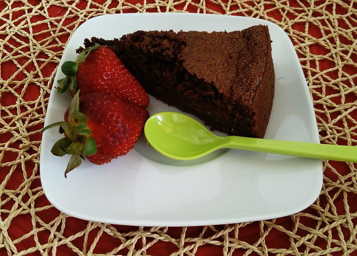 Bolo de chocolate e curgete