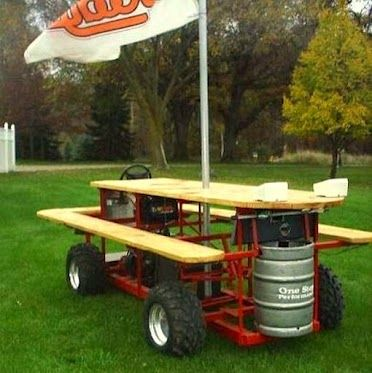 Booze Cruise Beer Sheds Pinterest Picnic Tables Picnics And - Motorized picnic table