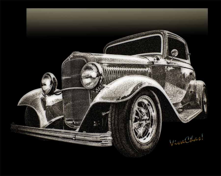 32 Ford Coupe Sketch of a Classic Street Rod or is it a Hot Rod? ~:0) VivaChas!