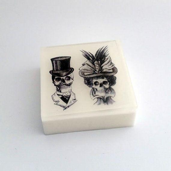 Skulls Wedding Couple Glycerin Soap Honeymoon Romance scented - soap note