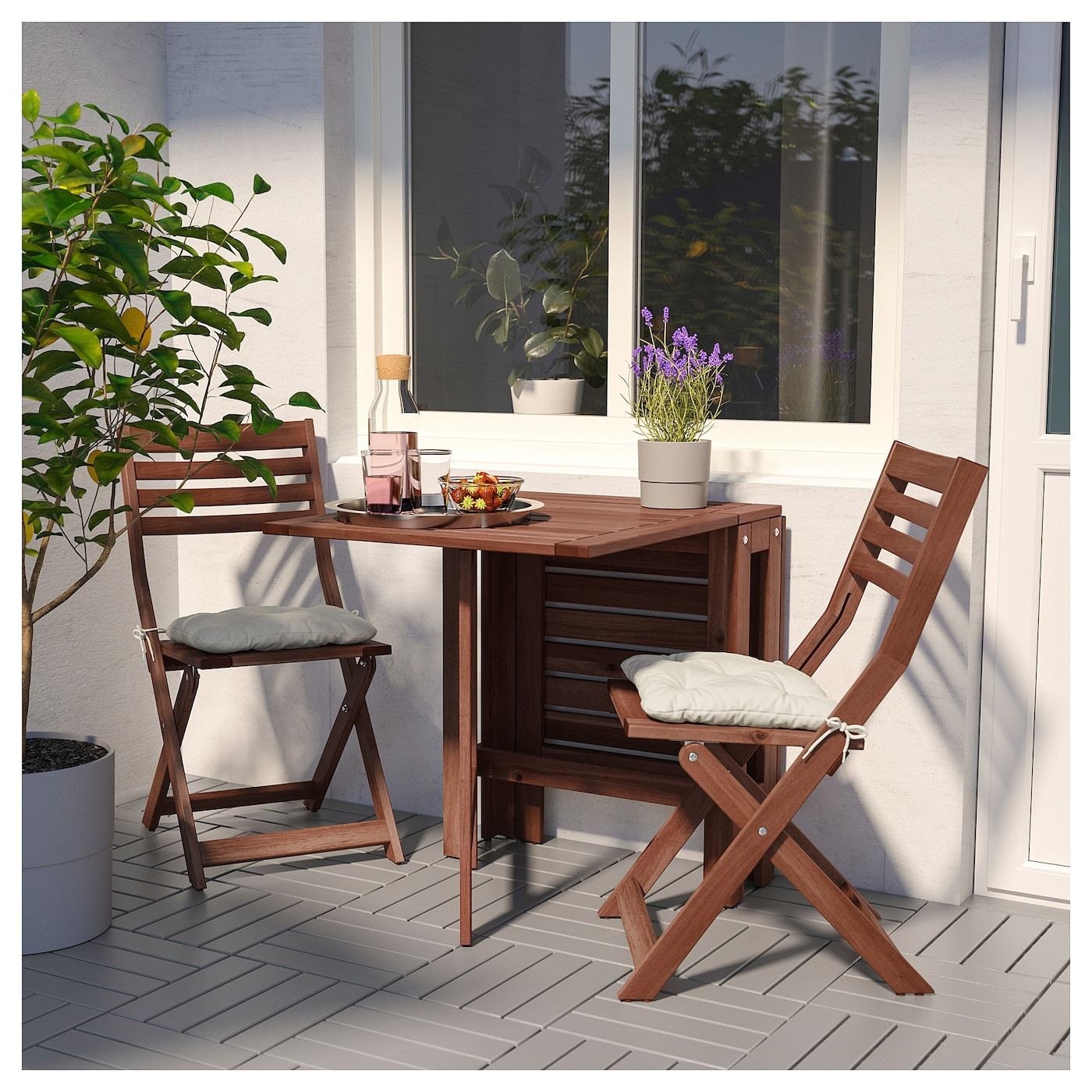PPLARÖ Gateleg table, outdoor  IKEA is part of Wooden outdoor furniture - IKEA  ÄPPLARÖ, Gateleg table, outdoor, Two folding dropleaves allow you to adjust the table size according to your needs For added durability and so you can enjoy