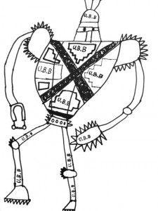 Robot Line Drawing Robot Art Simple Line Drawings Drawings