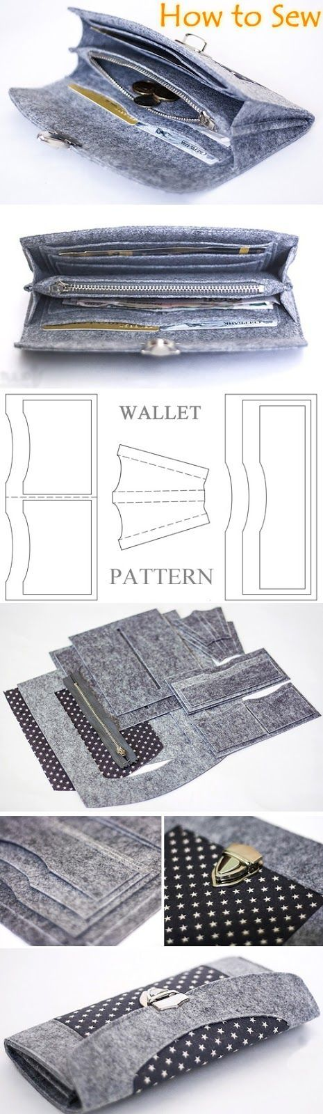 How to Sew a Felt Wallet   Purse. Tutorial  fb15dbd41195c
