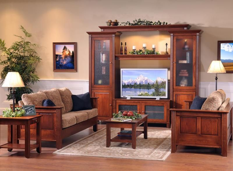 Amish Arlington Entertainment Center | Living room sets, Room set ...