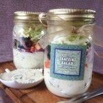 Tsatziki salad in a jar