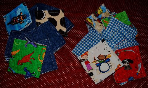 I made a couple of these for our girls for the airplane.  They are awesome! It was a quiet game on the airplane too. I also made matching drawstring bags for each set (from another tutorial/pin I mentioned).  It's a great way to use up scraps.