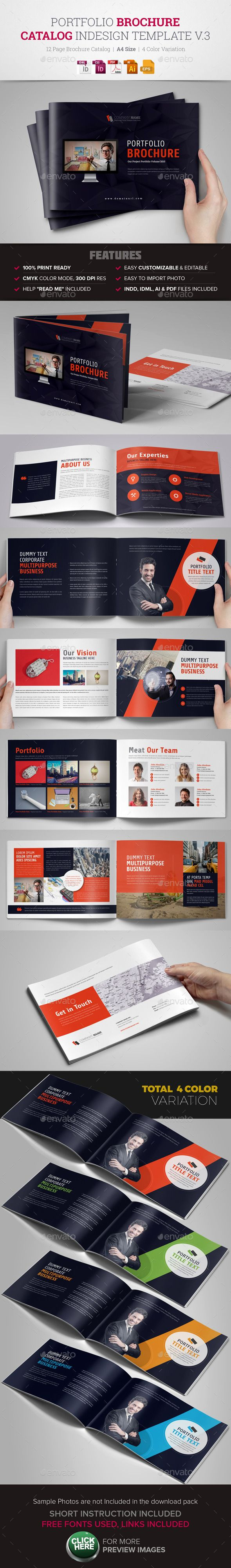 Portfolio Brochure InDesign Template v3