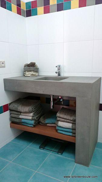 plan vasque salle de bain béton | Deco | Pinterest | Bureaus