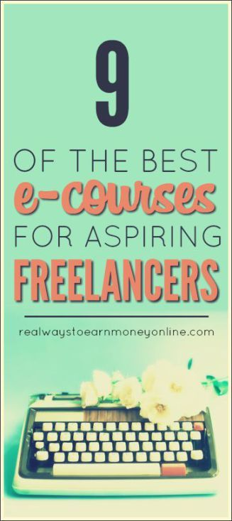 9 of the best ecourses out there for aspiring freelancers. Learn to be your own boss!