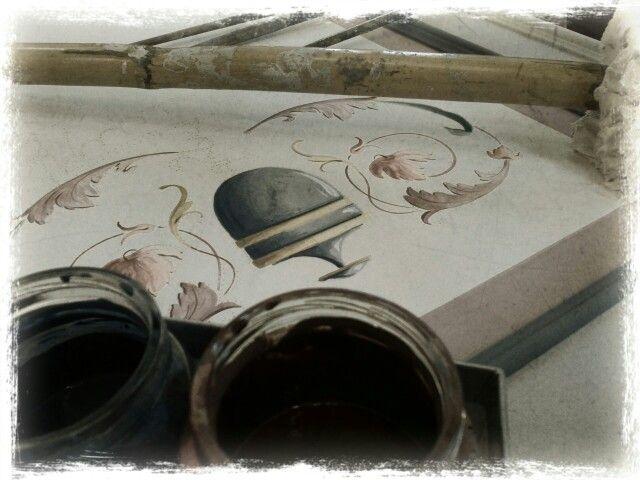 BOTTEGA D'ARTE di Samuele Verdecchia - Decorazioni e restauri - Soffitti decorati, affreschi, cocciopesto, decorazione e restauro mobili, dipinti e opere d'arte. 3495948889 Samuele Fermo e Jesi Ancona Marche