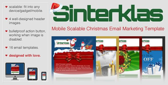 Sinterklas Christmas Mobile Scalable Html Email Sinterklas Has