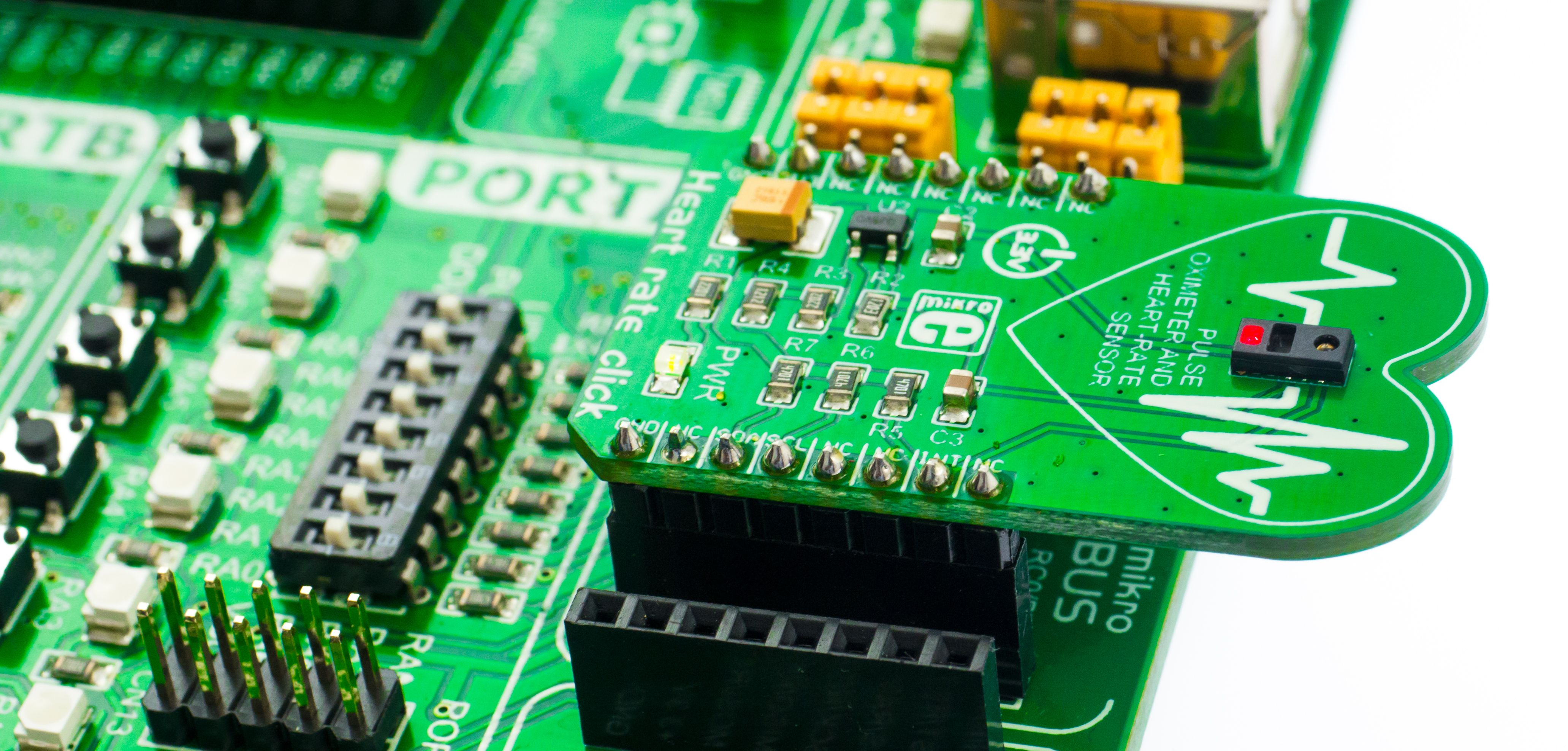 This MAX30100 code example in MikroC performs I2C communication and