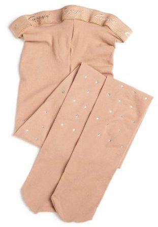 Capezio Girls 7-16 Ultra Soft Tight Socks With Rhinestones