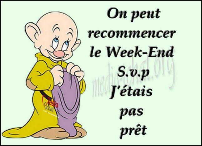 La fin du week,end