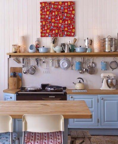 Querido Refúgio, Blog de decoração e organização com loja virtual: Em Cozinhas pequenas - aproveite as paredes