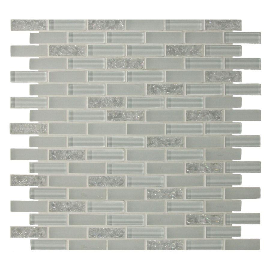 Shop GBI Tile Stone Inc 12In x 12In Gemstone White Glass