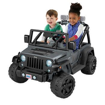 Fisher Price Power Wheels Deluxe Jeep Rubicon Wrangler 12v Ride On