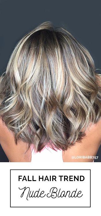 black hair blonde highlights nude