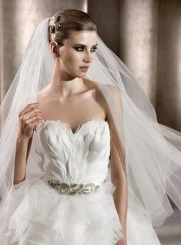 Swan Feather Wedding Dress