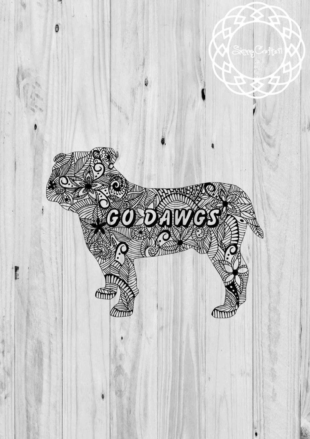 A personal favorite from my Etsy shop https://www.etsy.com/listing/476530249/bullldog-clipart-go-dawgs-svg-cricut