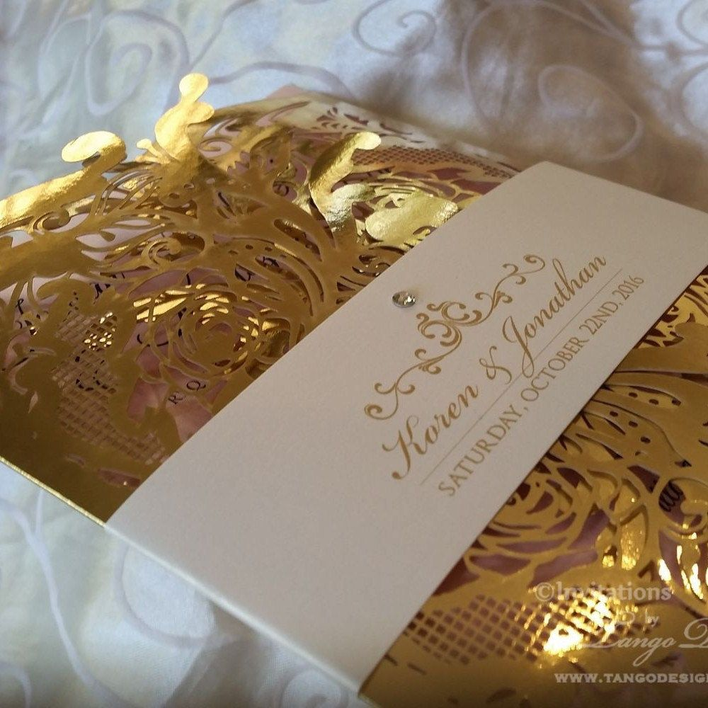 InvitationsbyTango shared a new photo on Etsy | Foil wedding invitations, Gold  wedding invitations, Gold foil wedding