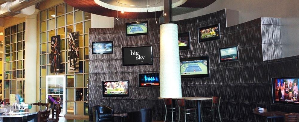 The lobby at big sky newington with images big sky
