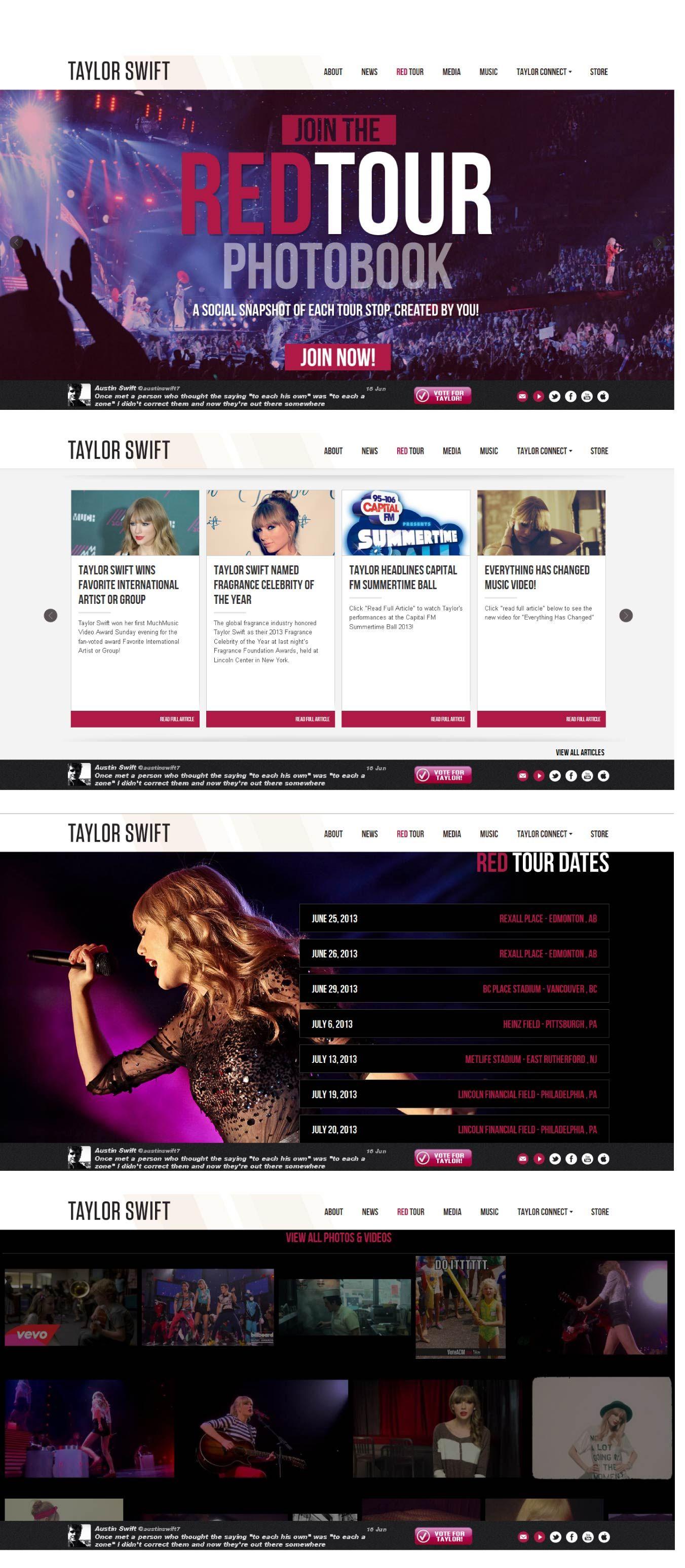 Lo que me parecio interesante de esta página de una cantante norteamericana, es la información que contiene, que clara, y facil de encontrar, donde se puede ver desde fotos y videos hasta las fechas de su tour.