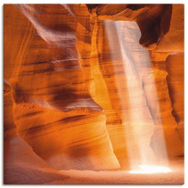 Leinwandbild »M. Viola: Antelope Canyon - Lichtsäule« #naturallandmarks