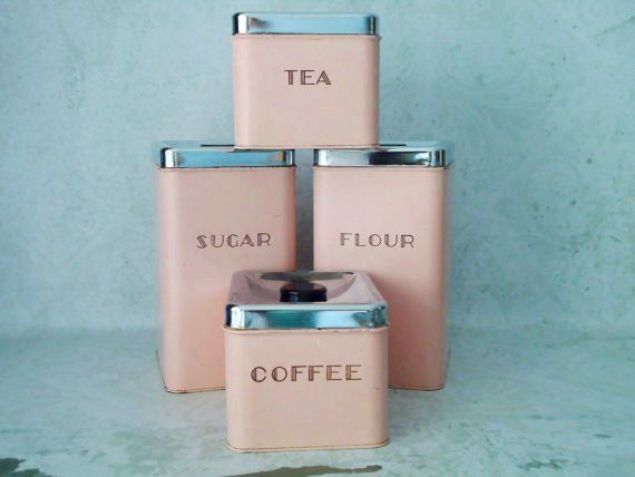 vintage pink canisters for when i an deco kitchen my