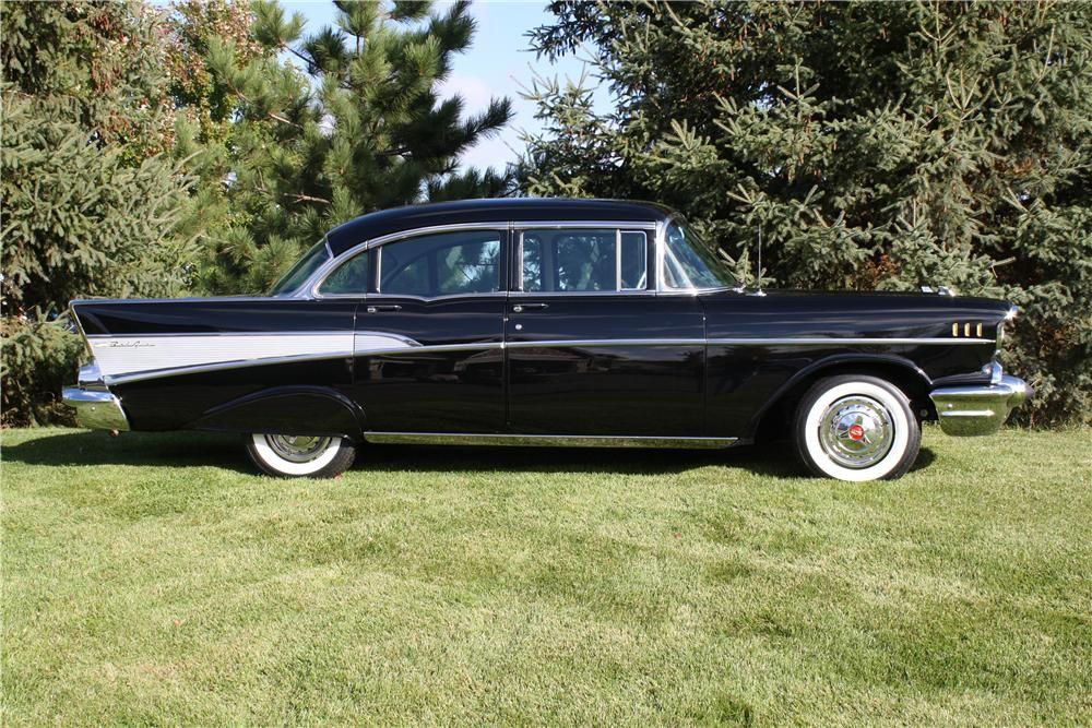 1957 Chevy Bel Air 4 Door Hardtop Black | 1957 Chevrolet Bel Air 4 ...