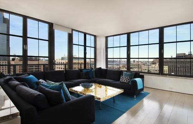 Stylish Manhattan apartments for sale | Living room ...