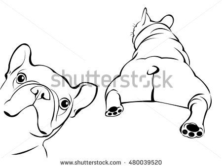 Dog Vector Breed Cute Pet Animal Bulldog French French