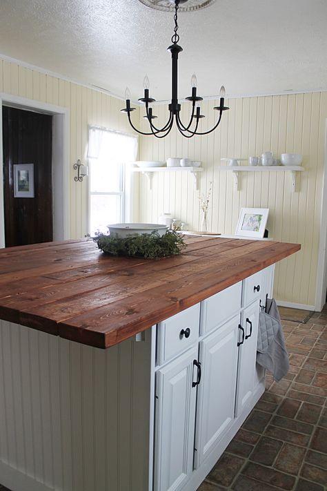 32 Ideas For Farmhouse Kitchen Butcher Block Island White ...