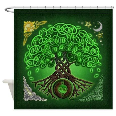Circle Celtic Tree Of Life Shower Curtain On CafePress