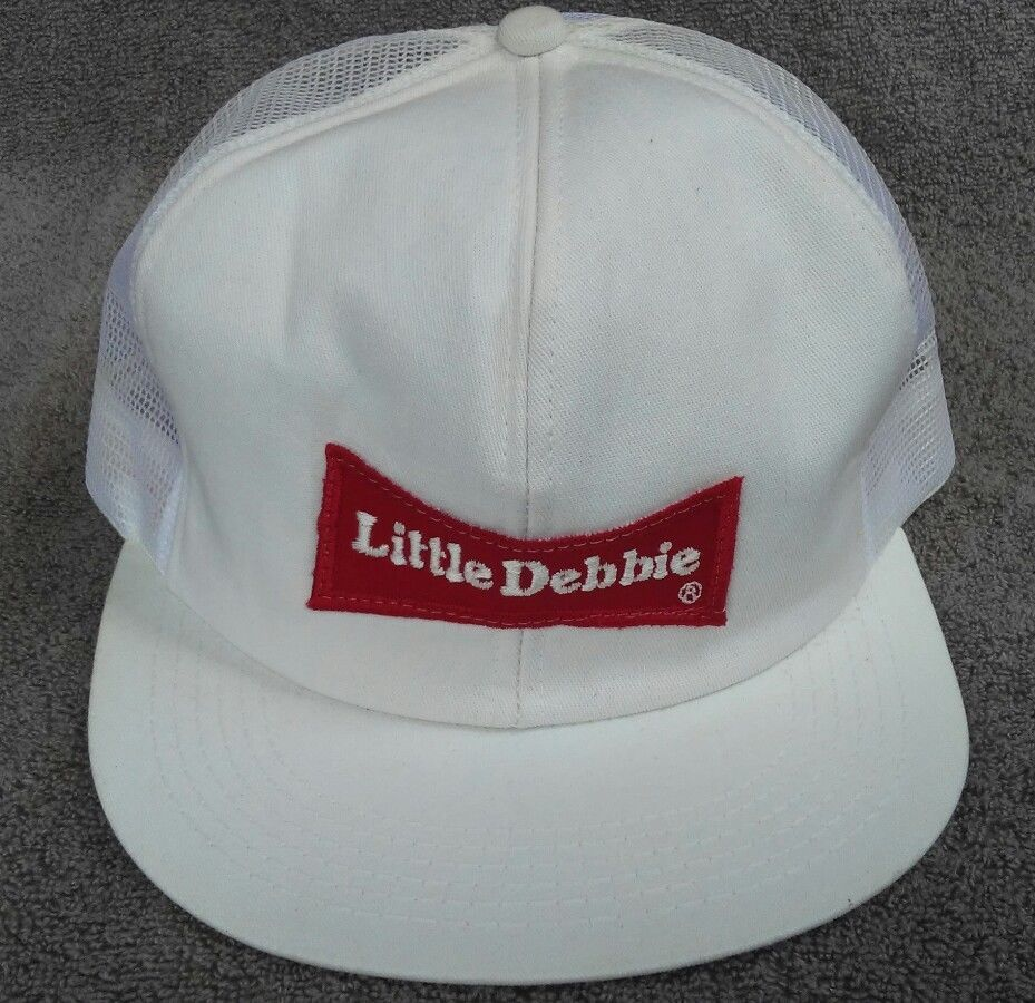 6df7a7577f59e2 Little Debbie Cap Hat Patch K Products Trucker Mesh Snapback Vintage White  Red  KProducts
