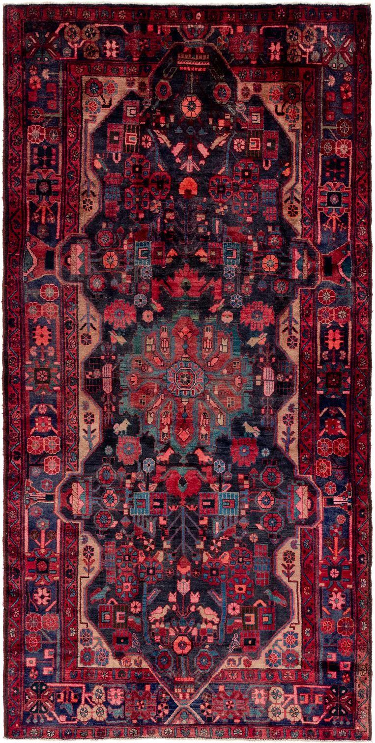 Black 5 2 X 10 5 Nahavand Persian Runner Rug Persian Rugs