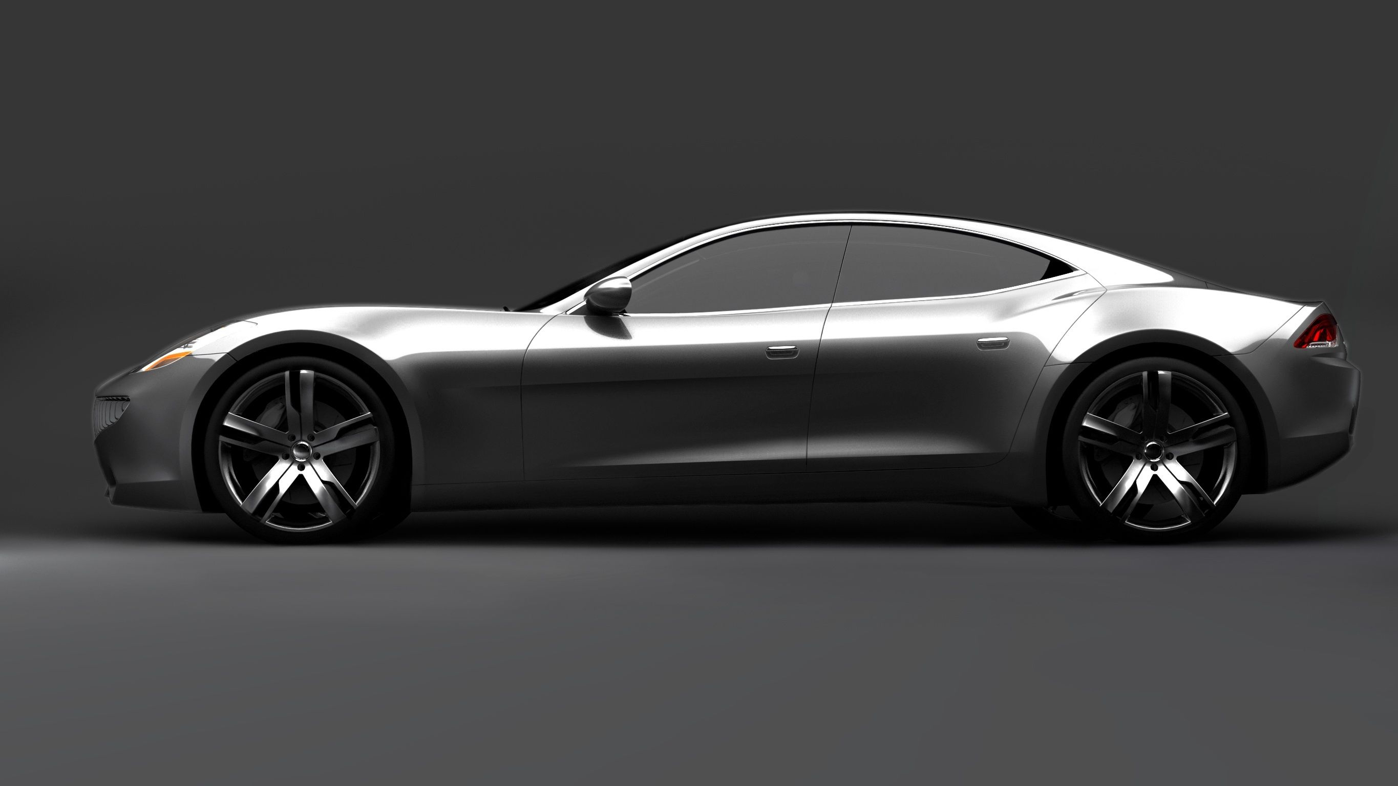 Fisker Karma Hybrid Monster Saw One In The Uptown Park Area Of