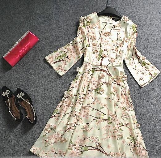 Morpheus Boutique  - Off White Floral Pattern Long Sleeve Designer Dress , $99.99 (http://www.morpheusboutique.com/new-arrivals/off-white-floral-pattern-long-sleeve-designer-dress/)