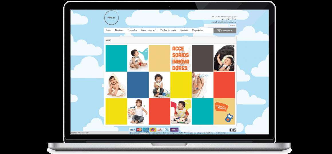 http://soytandem.com.ar  Diseño web + Tienda Nube para MiniEco: diseño de layouts para la tienda online con la identidad de la marca.