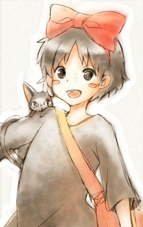 魔女の宅急便 まーじょこさーん 葵月茶月のイラスト Studio Ghibli Kiki Delivery Kiki S Delivery Service
