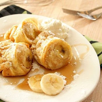 Peanut Butter And Banana Popovers