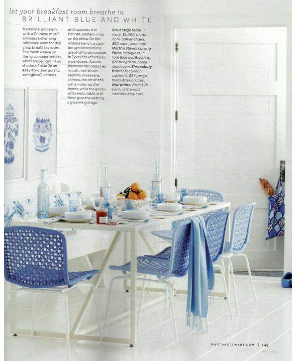 Martha Stewart Living Blue Amp White Decorating Ideas