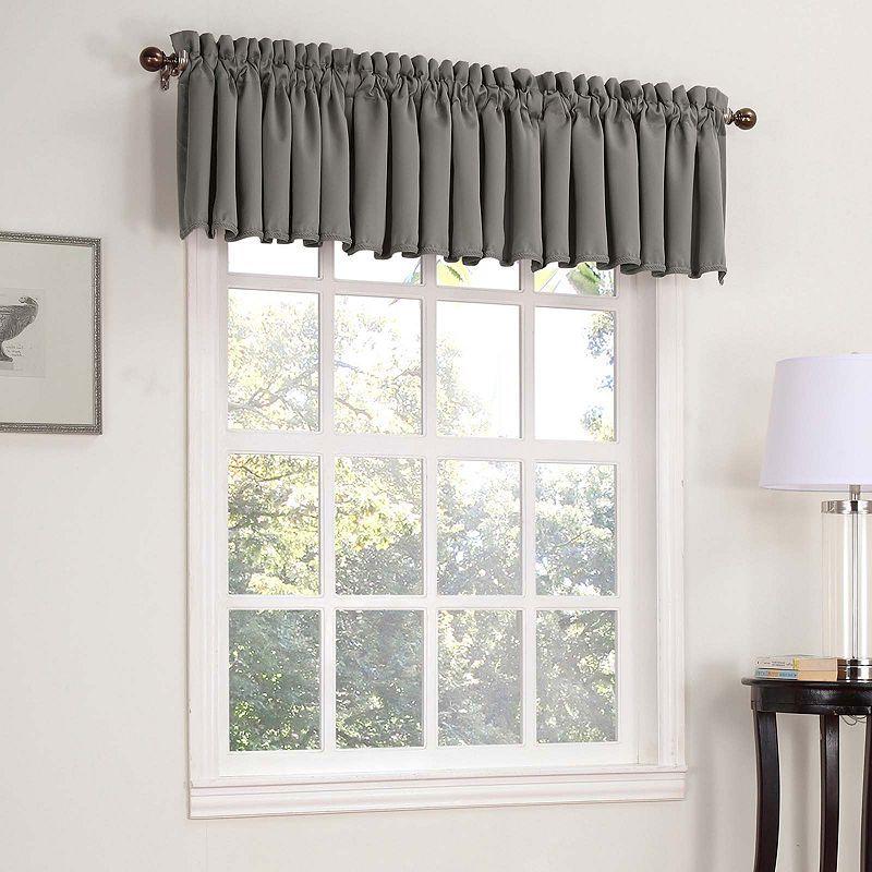 Sun Zero Emory Rod Pocket Tailored Valance Window Valance Galaxy Room Valance Curtains