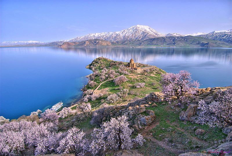 In Eastern Turkey sits lake van which is the largest in the country. It is well known for its ancient Armenian churches dotting the landscape