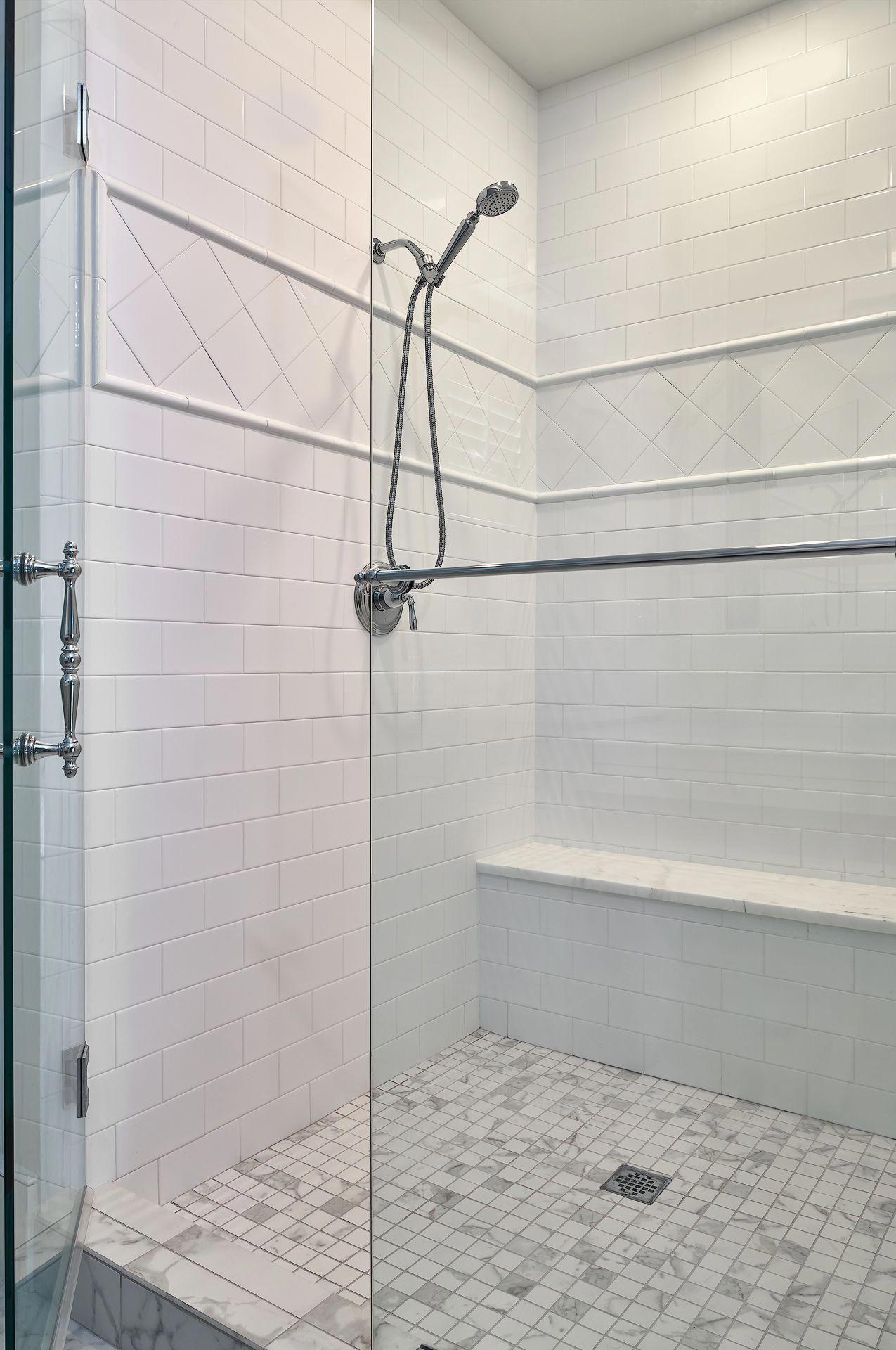 walkin shower in the junior master bathroom is stunning