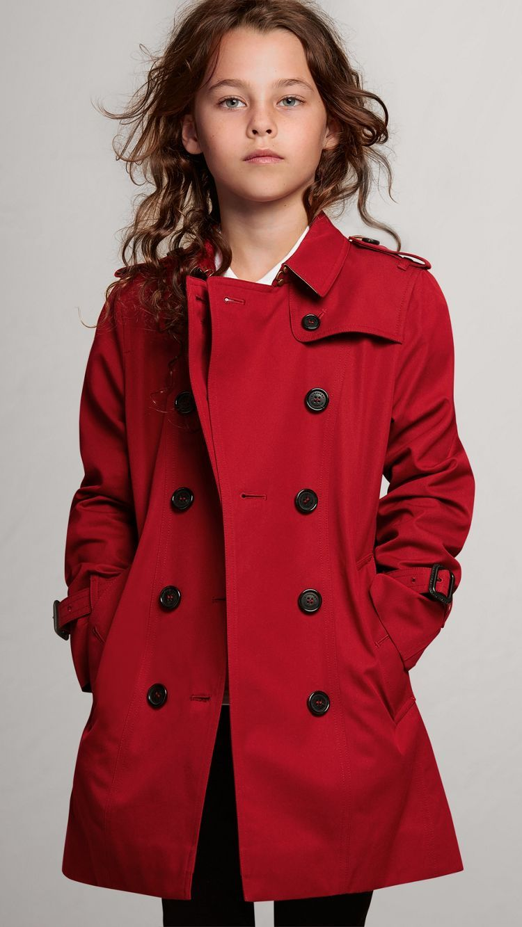 4aa734d912e2 The Sandringham Trench Coat in Parade Red - Girl